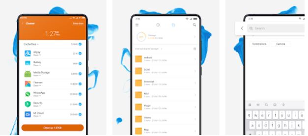 File Manager by Xiaomi release file storage space