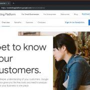 Google Anaytics marketing platfrom