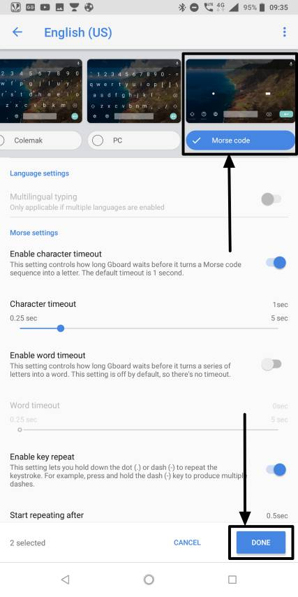 How to type using Morse code on Android in the 21st century 4 (Small)