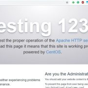 Install Apche web server on CentOS 6 and centos 7
