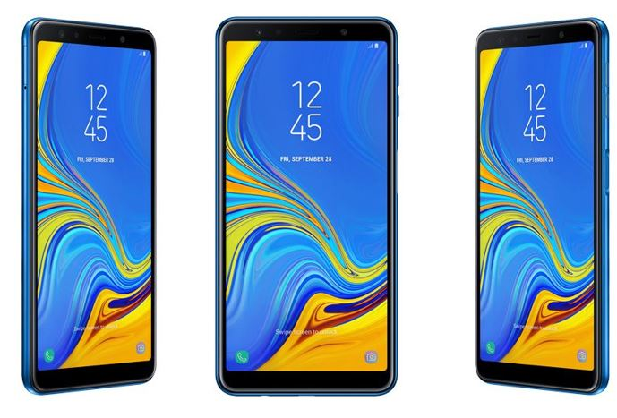 Samsung Galaxy A7 2018 blue color
