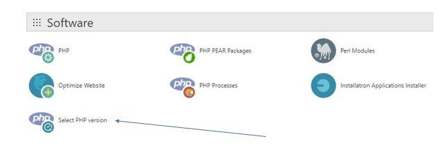 Select PHP vevrsion