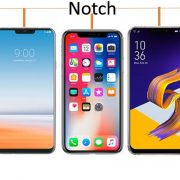Smartphones with a notch