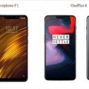 Xiaomi Pocophone F1 vs OnePlus 6
