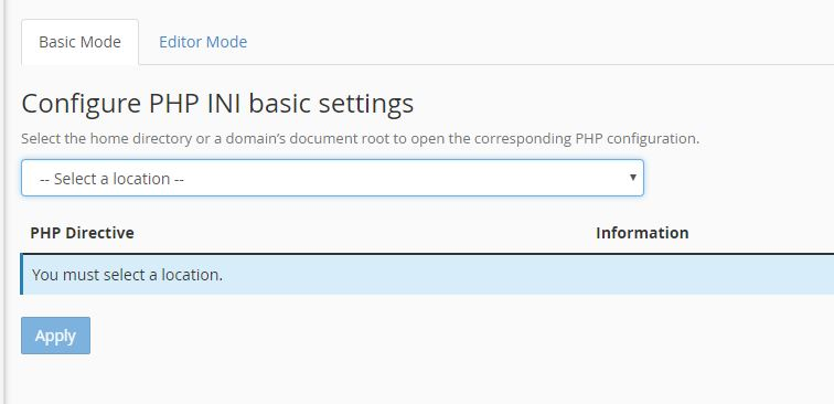 configure the PHP memory