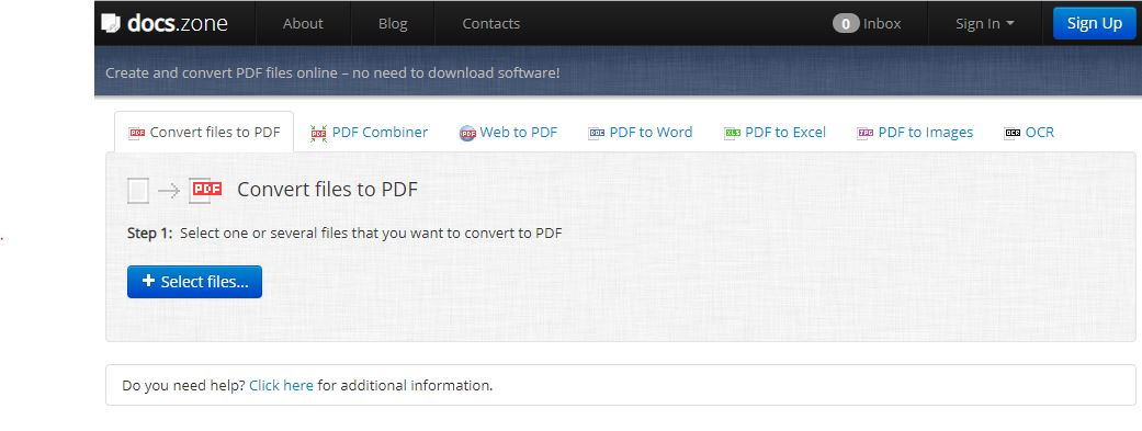 docs.zone Create and convert PDF files online – no need to download software