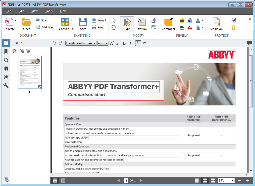 ABBYY Publishes PDF Transformer & OCR + software