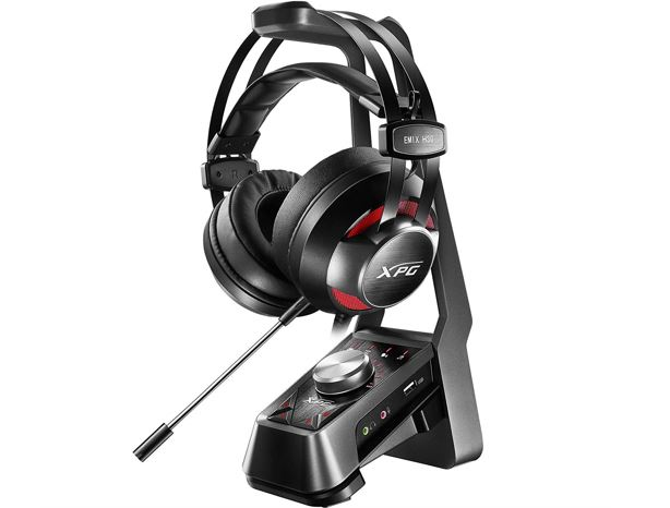 Adata EMIX H30 gaming headset with SOLOX F30 amplifier