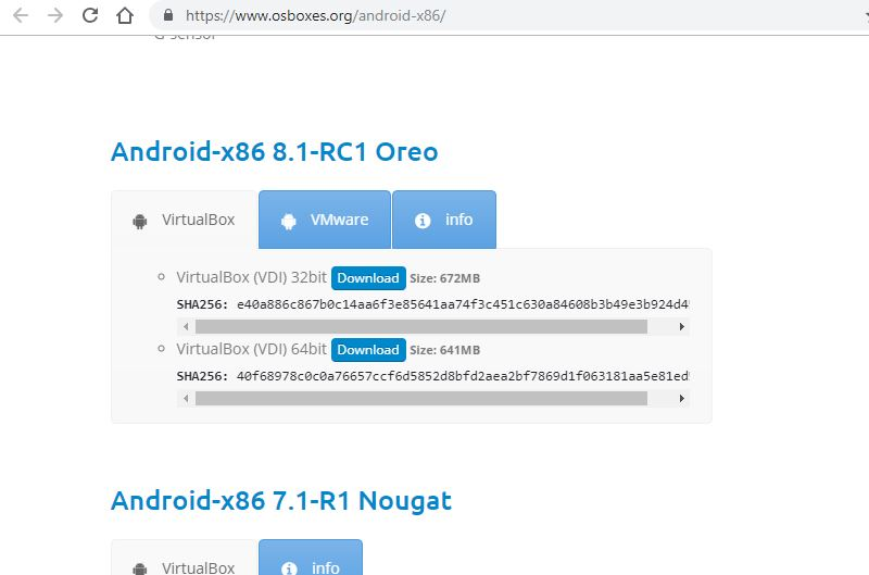 Install Android x86 PC OS VM Image on Virtualbox or Vmware