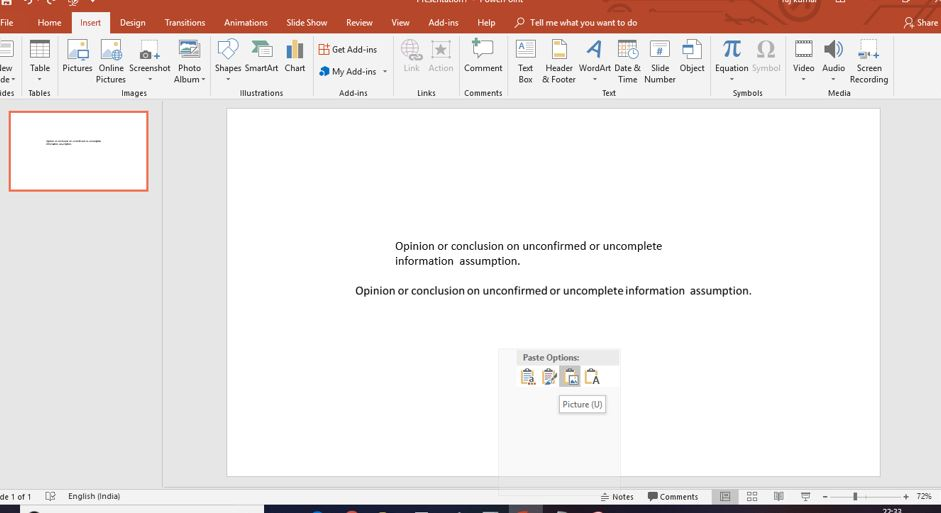 Blur the text in powerpoint