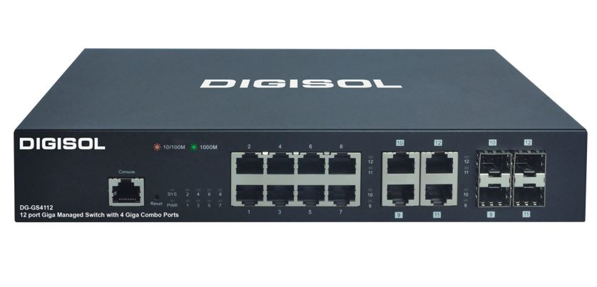 DIGISOL launches 8 Port Gigabit Ethernet Smart Managed Switch