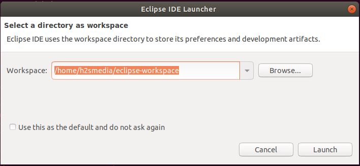 Eclipse IDE launcher