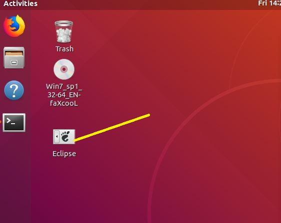 Eclipse Ubuntu Desktop shortcut