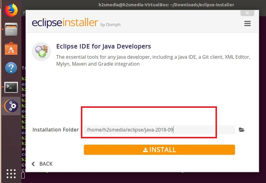 Eclipse installation folders