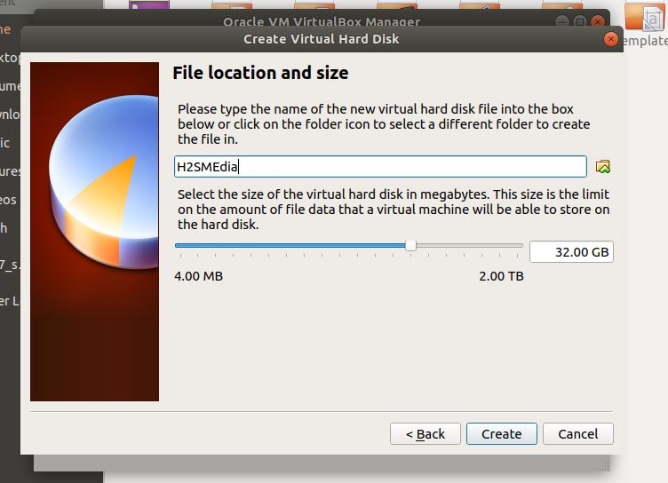 File allocation size to windows virtual machine linux