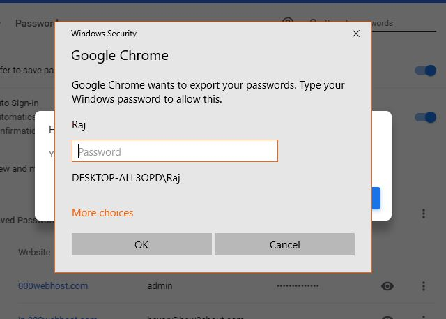 Google password security