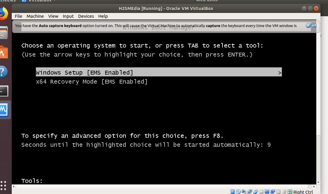 Install the Windows Virtualmachine on Linux