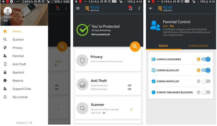 REVE mobile antivirus
