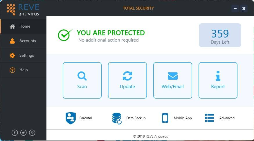 REVE Total security Antivirus software review