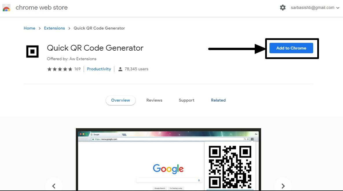 Sharing links from computer to smartphones using ORcode generator
