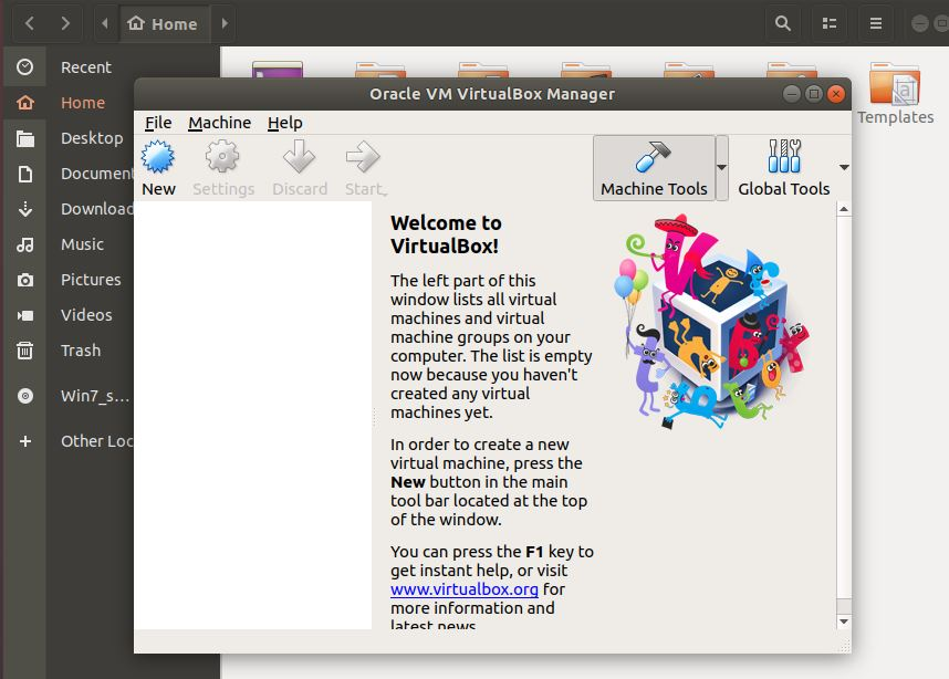 Start virtualbox Linux on Ubuntu