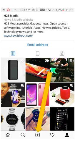 Upload and blur the background in Tilt shift on Instagram