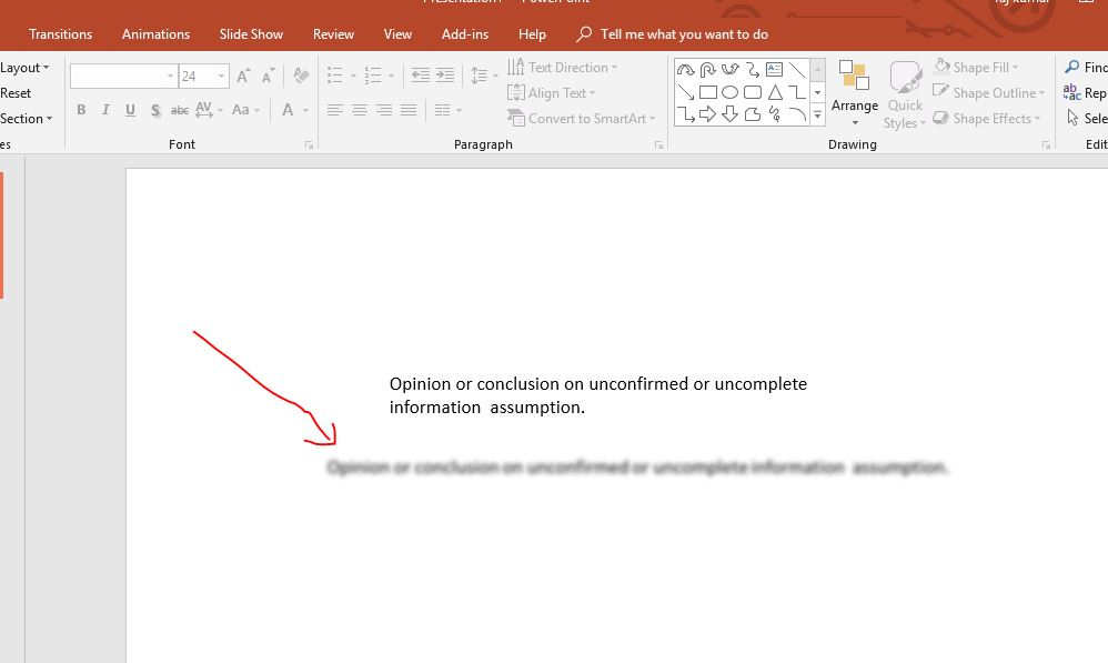How to blur part of a picture or text in PowerPoint | H2S Media