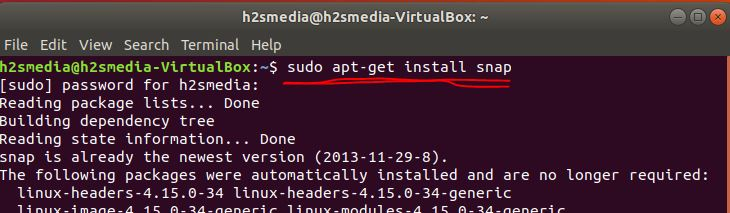 install SNAP on Ubuntu