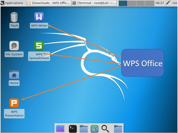 install WPS office on KALI LINUX