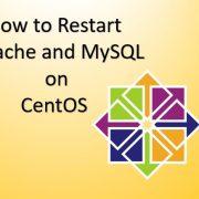restart Apache and MySQL in CentOS-RHEL-Fedora-Scientific Linux version