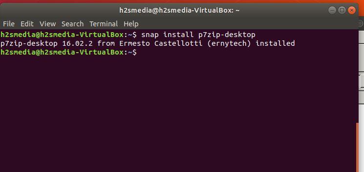 snap install p 7zip desktop ubuntu