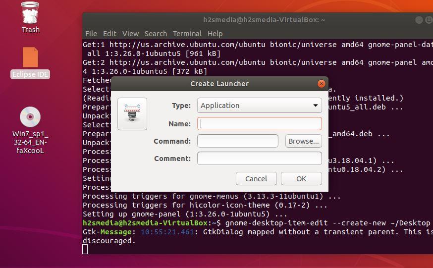 ubuntu add eclipse to application menu