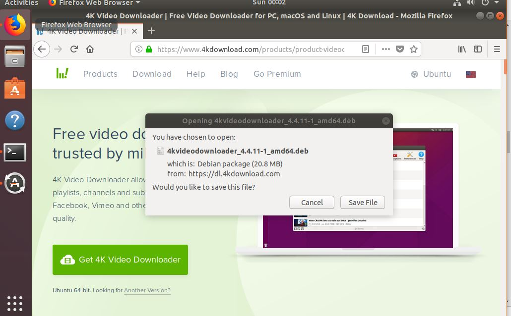 How to install 4k video Downloader YouTube on Ubuntu Linux