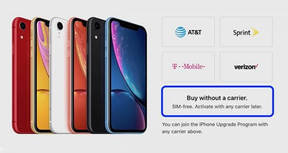 Apple iphone XR without carrier