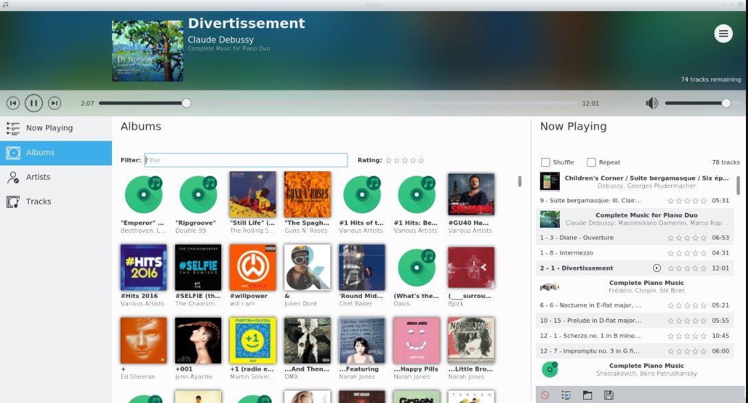 Elisa KDE music player
