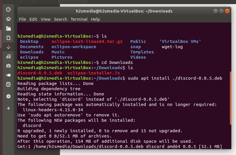 Install Discord on Ubuntu using command line