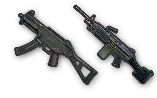 LMG and SMG gun weapons pubg mobile game