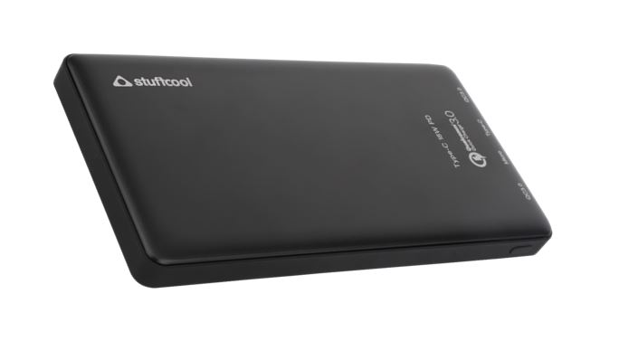 Stuffcool Qualcomm certified QC3 10000mAh Power Bank with Type-C PD 18 Watts Output