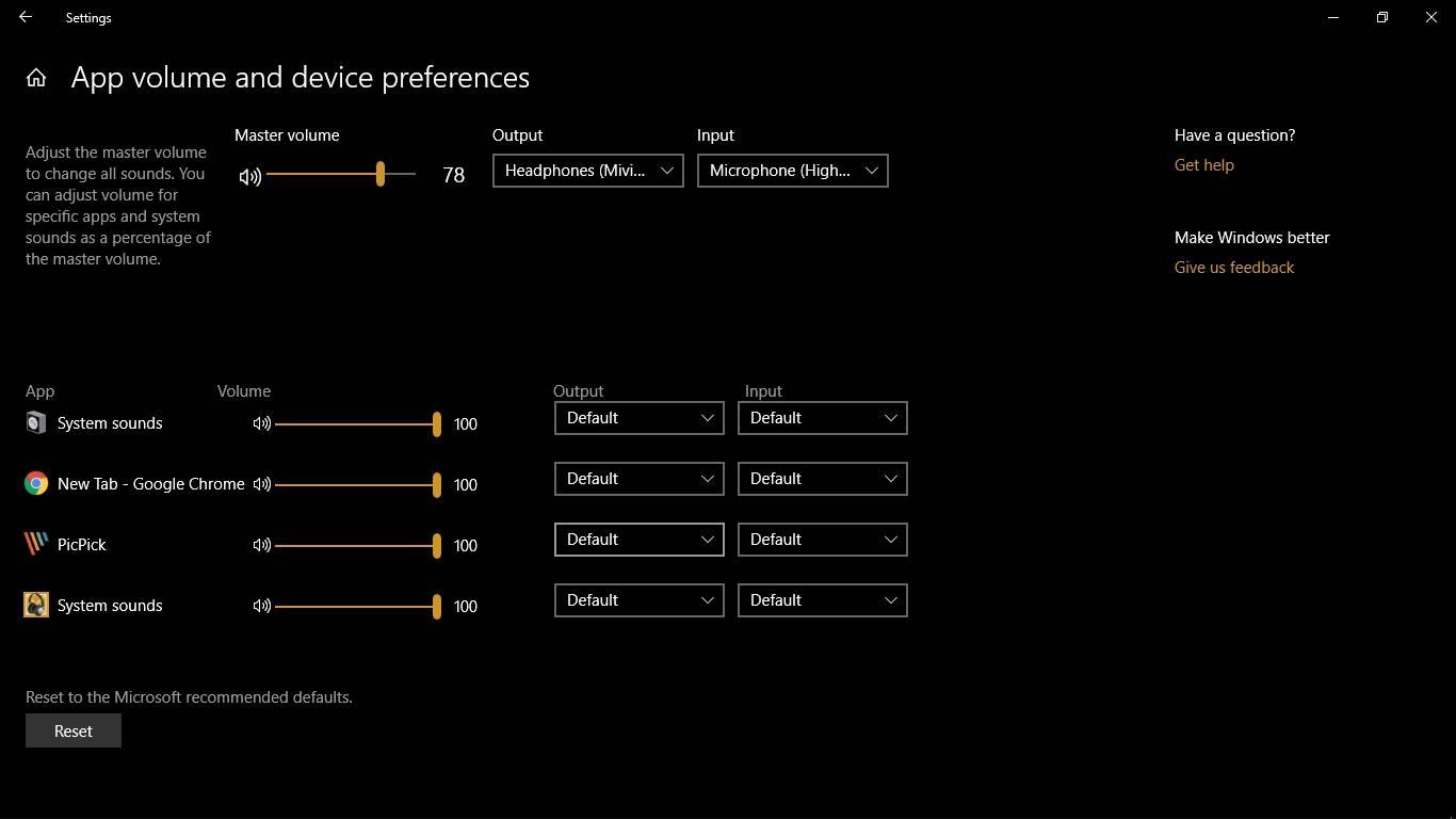 Windows Sound settings 4
