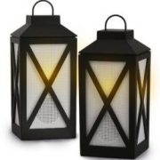 Acoustic Research Heartland Stereo Lantern Bluetooth Wireless Speakers, Set of 2