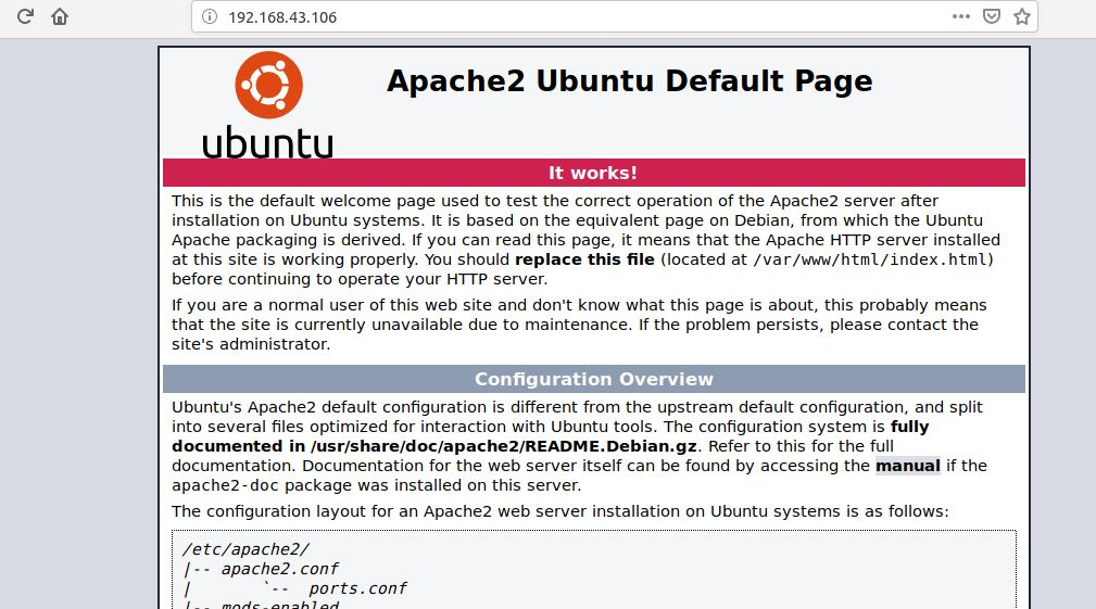 Apache web server webmin server