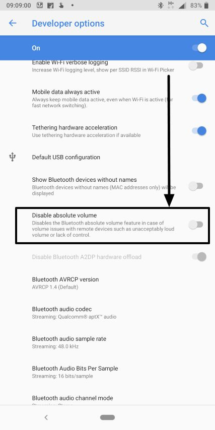 How to control Bluetooth and Android audio volume independently
