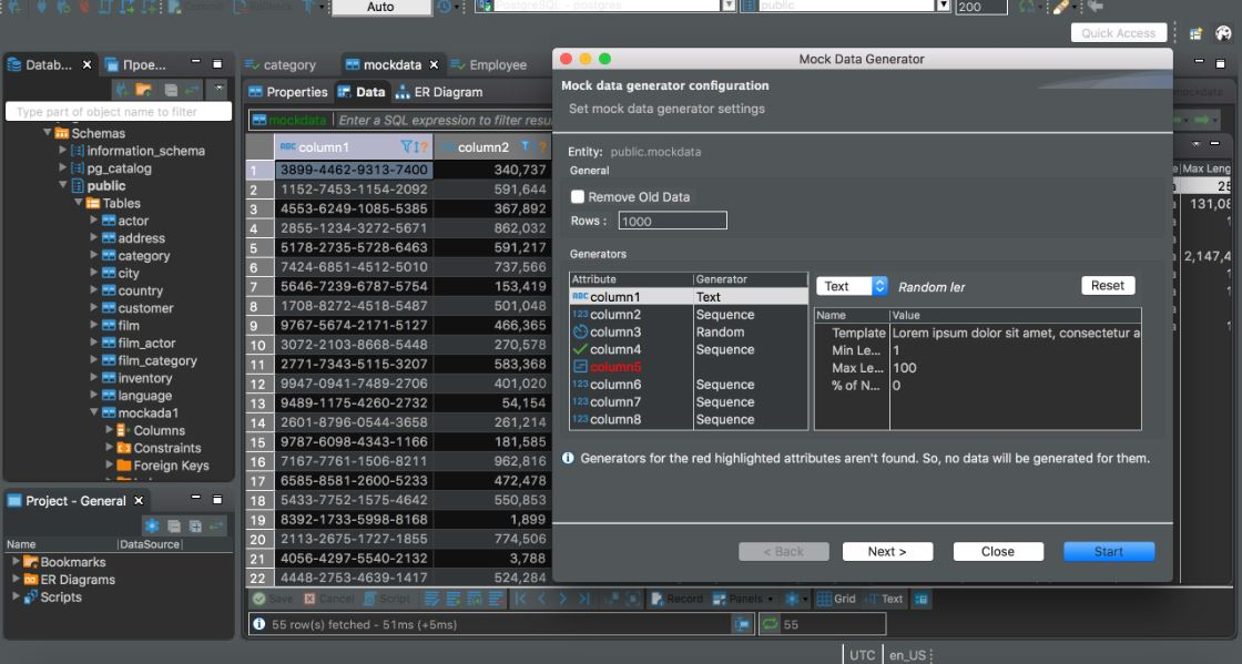 DBeaver MySQL database GUI tool to manager databases