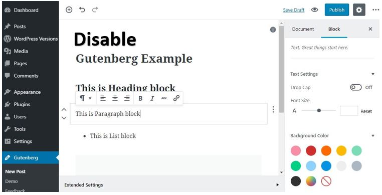 Disable Gutenberg on WordPress 5.0 to get Classic editor back