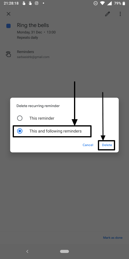 How to set periodic and daily reminders on Google Calendar 7