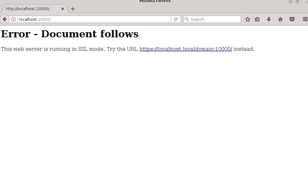 SSL certificate on Webmin Centos