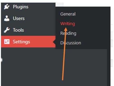 Setting WordPress gutenberg