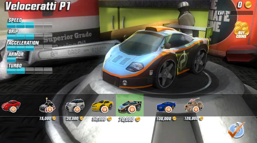 Table Top Racing game