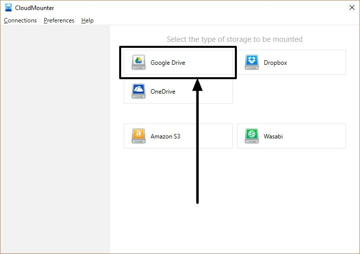 Map cloud storage as a network drive  on Windows 2