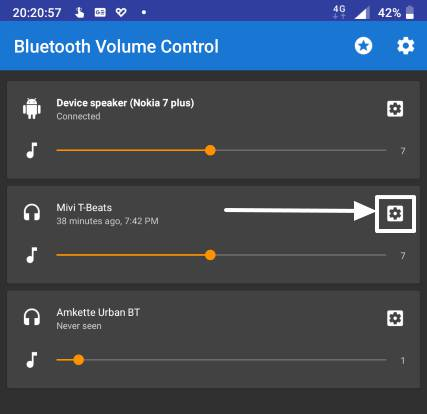 default volume for individual Bluetooth audio devices 3 Pics 11
